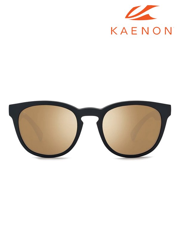Kaenon|Strand Black Matte Grip+Brown 12 Gold Mirror