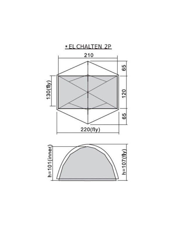 ALL NEW EL CHALTEN Pro 2p / 2021 #Olive [ZU2TNX21021]