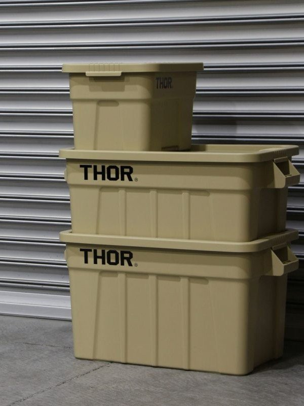 Trust Thor Large Totes With Lid 75L #Coyote [329275CO]