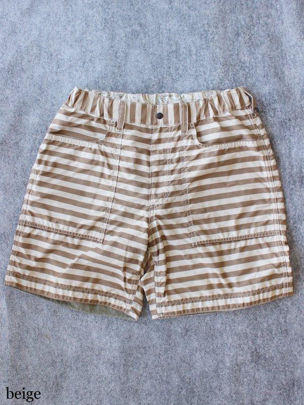 polyester stripe short pants