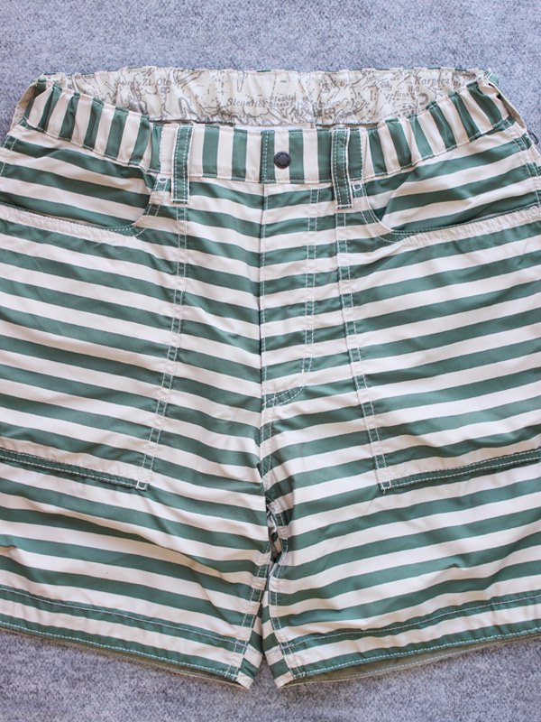 polyester stripe short pants