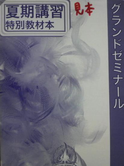 グランドゼミナール~特別夏期講習~ 教材本(2003.8.13)