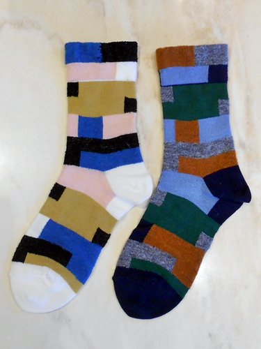 Tricote【トリコテ】 カラフルボーダーソックス (Ladies')