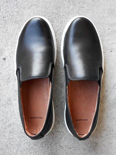 PICCANTE 【ピカンテ】 Leather Slip on / Black (Men's)