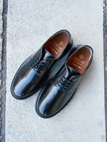 WALLSALL 【ウォールソール】 Blucher Plain Toe Shoes / BLACK / British Dainite Sole (Men's)