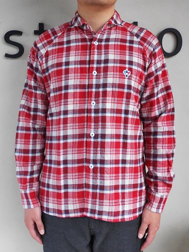 Arvor Maree 【アルボマレー】 SAILOR L/S SHIRTS TWILL CHECK (Men's)