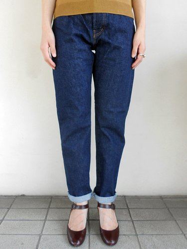 Ordinary Fits 【オーディナリーフィッツ】 5 POCKET ROLL UP DENIM ONE WASH (Ladies')