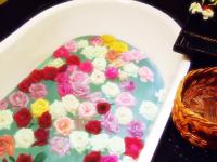 ゴージャスな薔薇風呂♪ 気分はクレオパトラ(^^♪