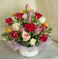 バラの花かご♪