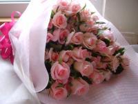 優しくて可愛い・・・旬!桃色バラの花束