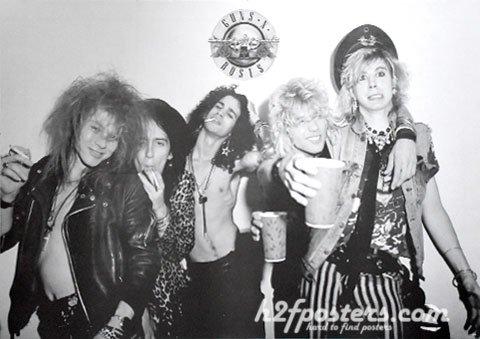 ガンズ・アンド・ローゼズ (Guns N' Roses/GN'R)ポスター [J-4986]