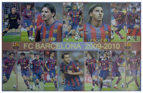 Football Poster FC BARCELONA *TEAM*(0974_M)