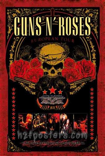 ガンズ・アンド・ローゼズ (Guns N' Roses/GN'R)ポスター [J-4271]