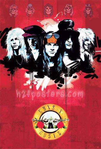 ガンズ・アンド・ローゼズ (Guns N' Roses/GN'R)ポスター [O-7019]