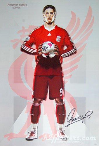 Football Poster FERNANDO TORRES LIVERPOOL 0903-M