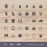 手帳ミニスタンプ 061 − 090