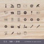 手帳ミニスタンプ 181 − 210