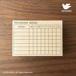 トレーニングメニュー表( XL / 7項目 )