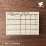 WEEKLY HABIT TRACKER( XL / 7項目 )<img class='new_mark_img2' src='https://img.shop-pro.jp/img/new/icons13.gif' style='border:none;display:inline;margin:0px;padding:0px;width:auto;' />