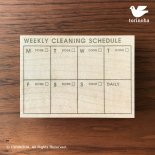 WEEKLY CLEANING SCHEDULE<img class='new_mark_img2' src='https://img.shop-pro.jp/img/new/icons13.gif' style='border:none;display:inline;margin:0px;padding:0px;width:auto;' />