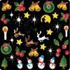 リキュウ ネイルシール X−1 クリスマス   (メール便OK)
