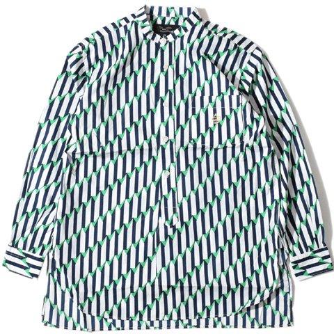 ALDIES/アールディーズ『Tricolore Shirt』トリコロールシャツNavy