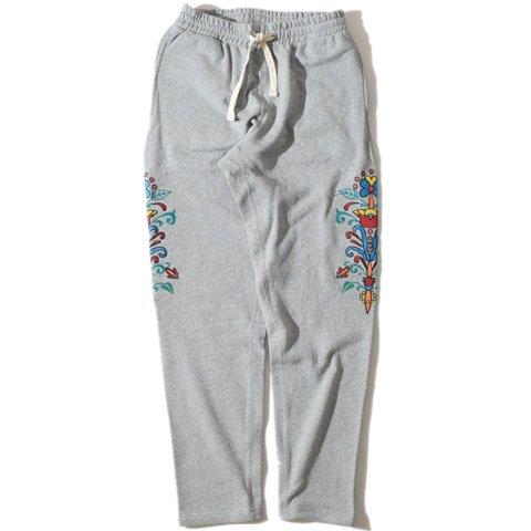 ALDIES/アールディーズ『Lily Embroidery Sweat PT』リリィエンブロイダリースウェットパンツGray
