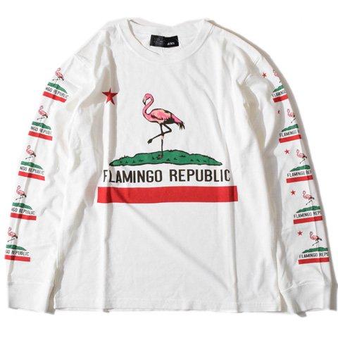 ALDIES/アールディーズ『Flamingo long T』フラミンゴロングTWhite