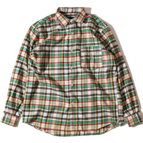 ALDIES/アールディーズ『Blow Nel Shirt』ボロウネルシャツBeige