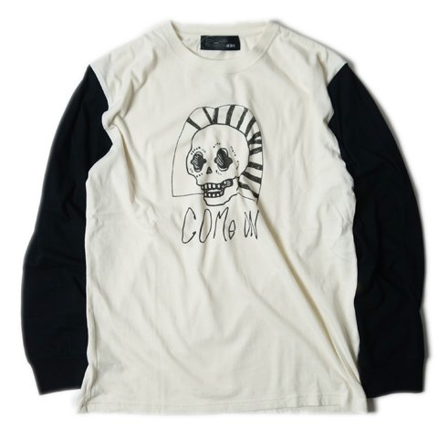 ALDIES/アールディーズ『Skull Long T』スカルロングTNat