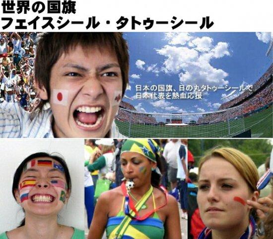 国旗フェイスシール イメージ