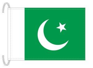 テトロン製 パキスタン国旗(M判・34×50cm)【メール便対応商品】
