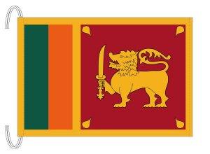テトロン製 スリランカ国旗(M判・34×50cm)【メール便対応商品】