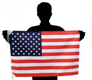 世界の国旗 アメリカ国旗 星条旗 USA[50×75cm ポリエステル100%]【メール便対応商品】