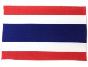 世界の国旗 ミニタオル・ハンドタオル タイ国旗柄 (素早い吸水・速乾のマイクロファイバー生地)ミニメガネ拭き・スマホ・タブレット・レンズクリーナーク…