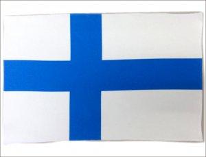 世界の国旗 ミニタオル・ハンドタオル フィンランド国旗柄 (素早い吸水・速乾のマイクロファイバー生地)ミニメガネ拭き・スマホ・タブレット・レンズクリーナーク…