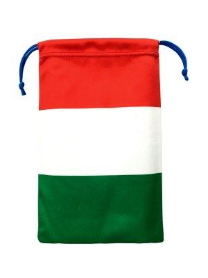 国旗柄 巾着ポーチ[イタリア国旗・マイクロファイバー製]