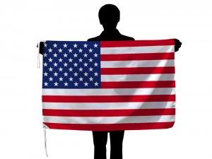 アメリカ国旗 星条旗(70×105cm・品番No.1・ポリエステル100%)【メール便対応商品】