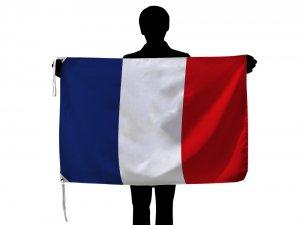 激安 フランス国旗・トリコロール(ポリエテル100%・70×105cm・品番No.1)【メール便対応商品】