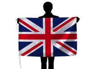 イギリス国旗・ユニオンジャック(70×105cm・品番No.1・ポリエステル100%)【メール便対応商品】