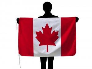 激安 カナダ国旗・メープルリーフフラッグ(70×105cm・品番No.1・ポリエステル100%)【メール便対応商…