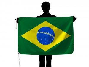 激安 ブラジル国旗(70×105cm・品番No.1・ポリエステル100%)【メール便対応商品】