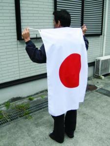 日本代表応援用 国旗日の丸・水をはじく撥水加工付き(テトロン生地・70×105cm)【メール便対応商品】・日本製
