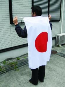 日本代表応援用 国旗日の丸・水をはじく撥水加工付き(テトロン生地・70×105cm)【メール便対応商品】・日…
