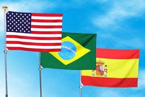 世界の国旗(70×105cm・200ヶ国在庫)【メール便対応商品】
