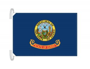 アイダホ州旗[アメリカ合衆国の州旗・50×75cm・高級テトロン製]