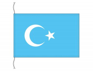 東トルキスタン 国旗(卓上旗16×24cm)【メール便対応商品】