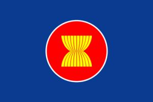 ASEAN 旗(アセアン・東南アジア諸国連合・卓上旗16×24cm)【メール便対応商品】