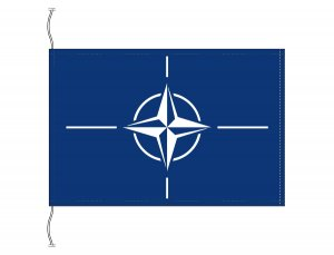 NATO 旗(北大西洋条約機構・卓上旗16×24cm)【メール便対応商品】