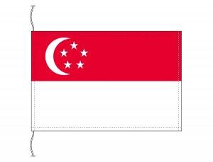 シンガポール国旗(卓上旗16×24cm)【メール便対応商品】